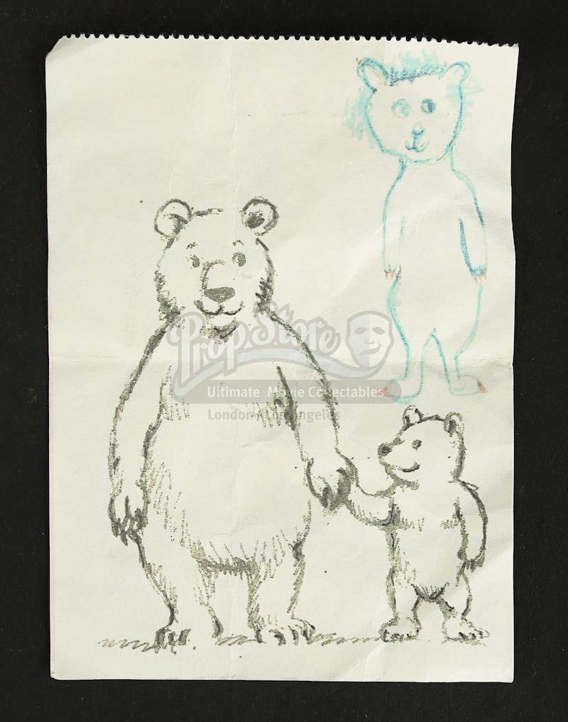 MUTE Prop Store Auction - Josie's (Mia-Sophie Bastin) Bear Drawing