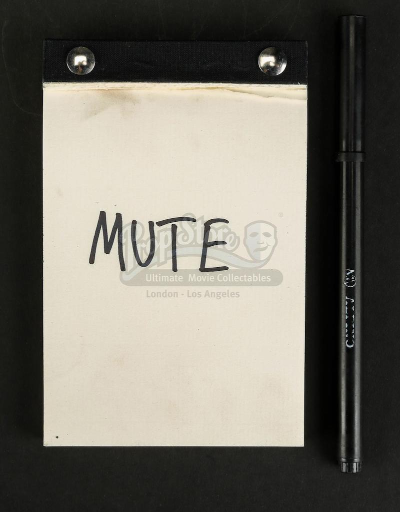 0abe6f9f9b131 MUTE Prop Store Auction - Young Leo s (Levi Eisenblatter) Hospital Notepad  and Pen